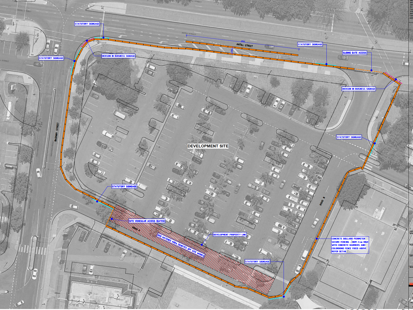 Dickson Residents Group writes to the Chief Minister about imminent parking shortages